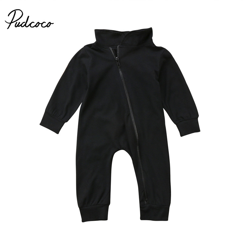 New Style Newborn Infant Baby Boy Girls Clothes Long Sleeve Romper Playsuit Cotton Outfits zipper Baby Clothing ...