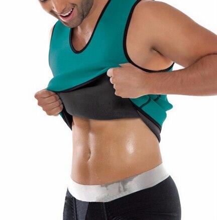 Black Neoprene Weight Loss Mens Body Shapers Vest Slimming Fitness Waist Tops Sweat Shapwear Shirts Hot Plus Size M-4XL 1