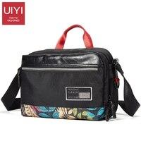 UIYI Messenger çanta erkek polyester Baskılı kumaş dikiş PVC omuz çantası kadın adam paketi Çanta Erkek Drop Shipping # UYX7050