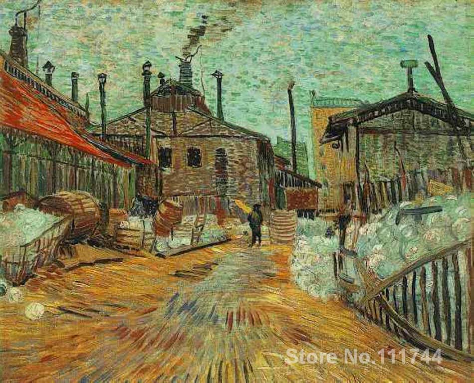 Christmas Gift The Factory at Asnieres by Vincent Van Gogh oil painting reproduction High quality HandmadeChristmas Gift The Factory at Asnieres by Vincent Van Gogh oil painting reproduction High quality Handmade