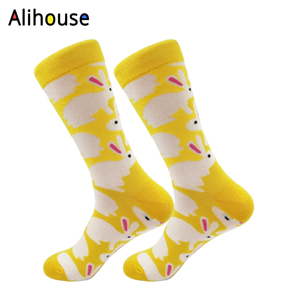 Alihouse unisex Funny Cool Pattern Crew Socks Cotton Socks cute bunny animal Fashion Casual Sock