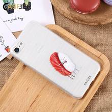 CASEIER Phone Case For iPhone 6 6s Plus Soft TPU Ultra-thin Cute Sushi Cover 5 5s SE Relief Silicone phone Shell