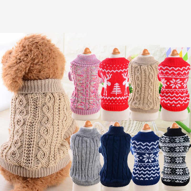 Pet Dog Jumpers Coats Hand Knit Cat Puppy Chihuahua Clothes