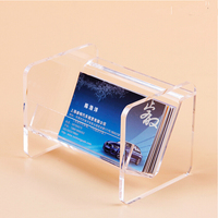 10pcs Crystal Acrylic Business Card Holder Desktop Countertop Name Card Display Stand