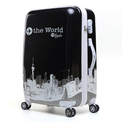 16913485efc0 24 inch Cute cartoon children rolling luggage Spinner Kids suitcase Wheels  trolley travel bag students carry on Trunk