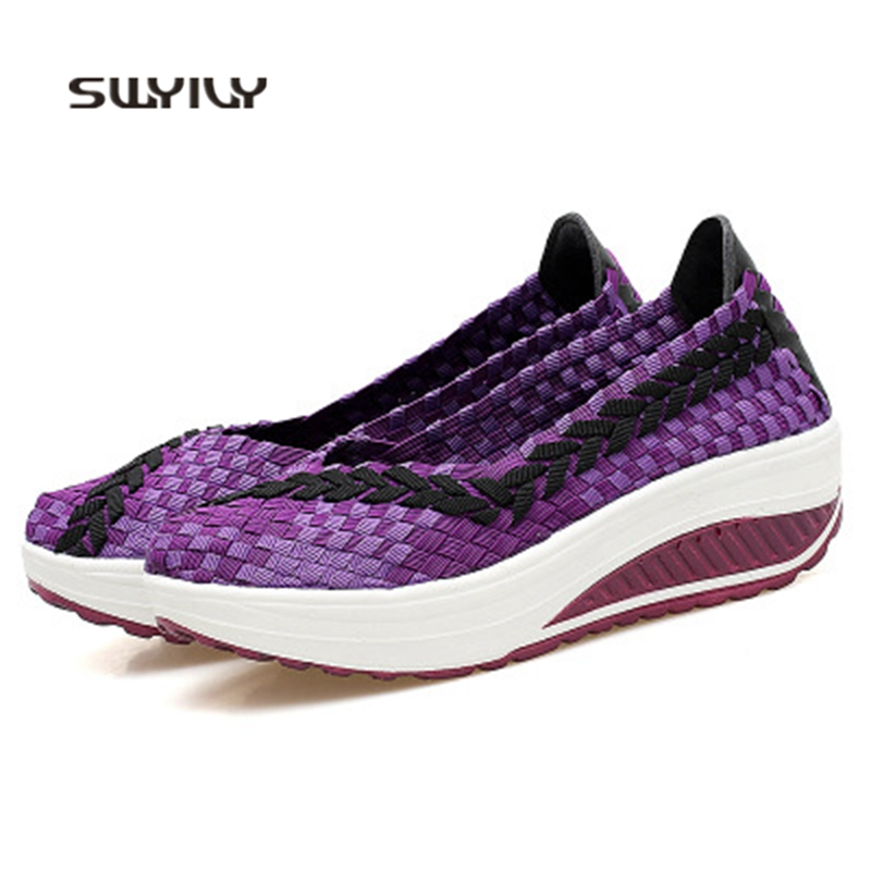 Us22 Autumn Made Wedge Hand New In Swing Light Weight Shoes Toning 43 2018 Sneakers 30Off swyivy Slimming Women Breathable PvOymNnw80