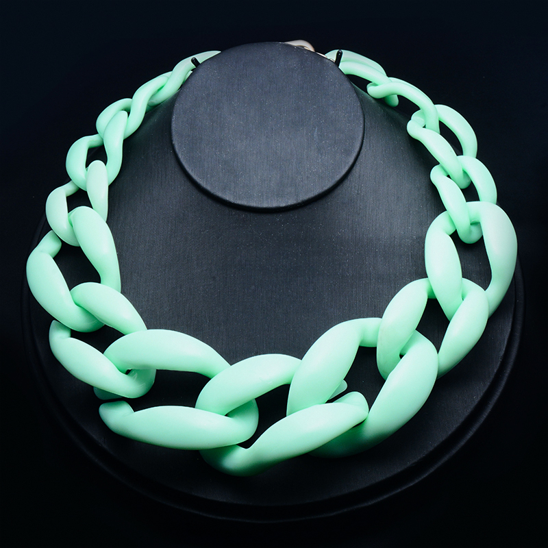 H:HYDE Fashion Jewelry choker necklace plastic chain link necklace women maxi necklace winter color