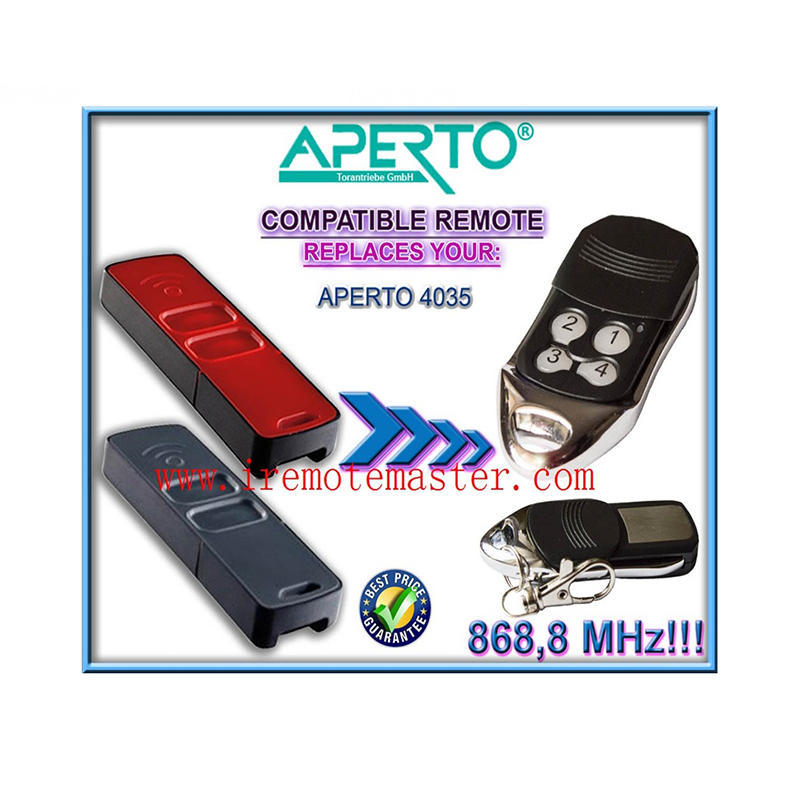 For APERTO 4035 Compatible Garage Door Remote Control 868,8MHZ Free Shipping