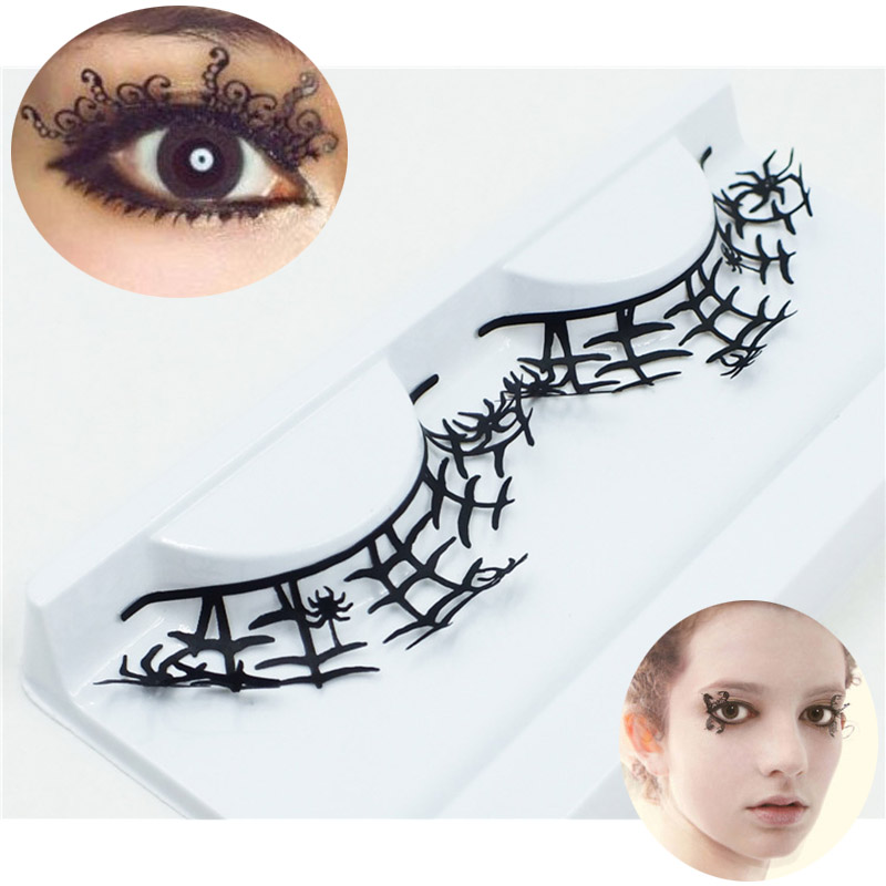 New 1 Pair Women Fashion Paper Cut Lashes Eyelashes Stickers