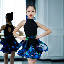 f72e0eae519 Los niños profesional vestido de baile latino para las niñas salón de baile  de Tango Salsa moderna ropa elegante Sexy baile desg.