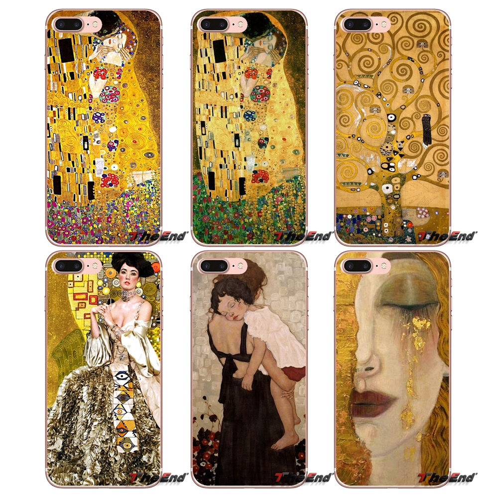 e4368940 Kiss by Gustav Klimt gold tears Case Cover For Huawei Honor 7X V10 6C V9 6A  Play
