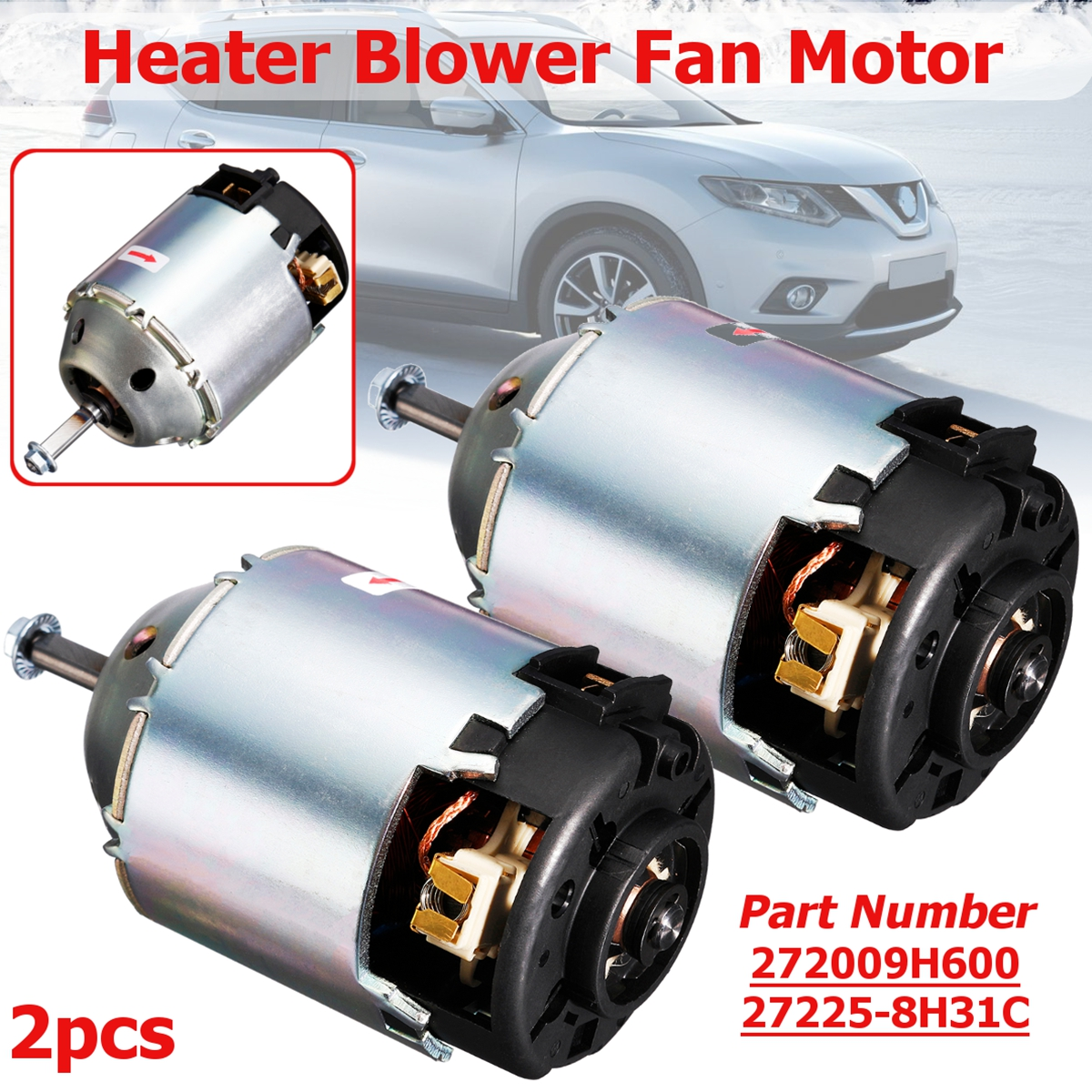 for nissan x trail maxima navara 272258h31c 272009h600 right hand and left hand driver side climate car heater blower fan motor in idle air control valve  [ 1200 x 1200 Pixel ]