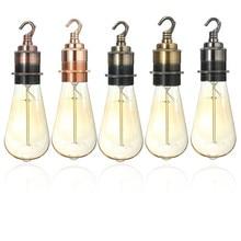 Лучшая цена E27/E26 медный винтажный Ретро светильник Эдисона, приспособления для лампочки, держатель, крюк, гнездо, абажур, кольцо 110-220 В