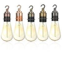 Best Price E27 E26 Fine Copper Vintage Retro Edison Light Lamp Bulb Fitting Holder Hook Socket