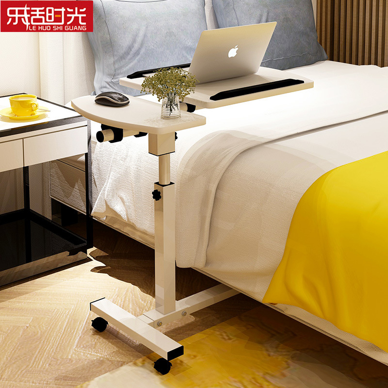 Portable Wooden Laptop Stand Foldable Moving Lazy Sofa Side Bedside Table Medical Height Adjustable Computer Desk Overbed Table multifunctional moving laptop desk sofa bedside ps stand lazy lift full motion mobile computer table