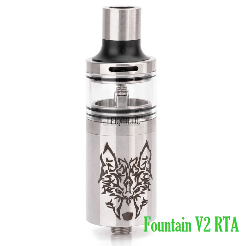 Hot sale Fountain V2 RTA Bottom Feeder Atomizer 5mL Silver Rta Atomizer 510 Electronic Cigarette Atomizer
