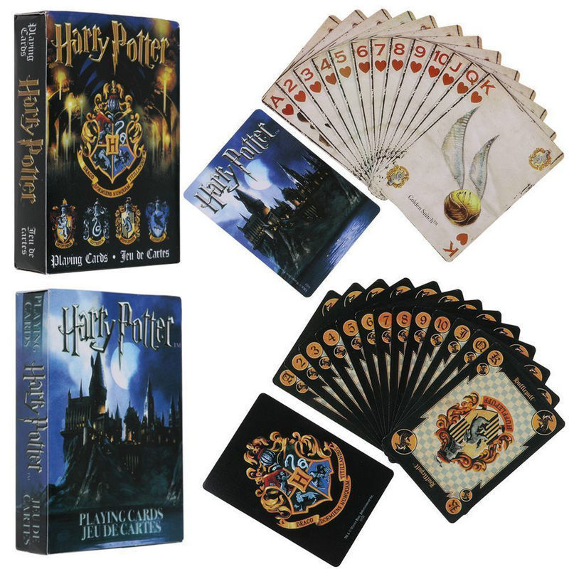 Harry Potter Playing Game Cards Hogwarts House Collection Badges Symbols Castle Crests 2 Patterns English Sets