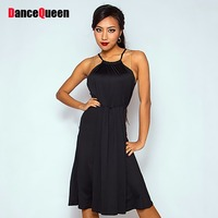 New Arrival Latin Dance Dress For Women Black Cotton Wear Women Professional Ballet Tango Waltz Square