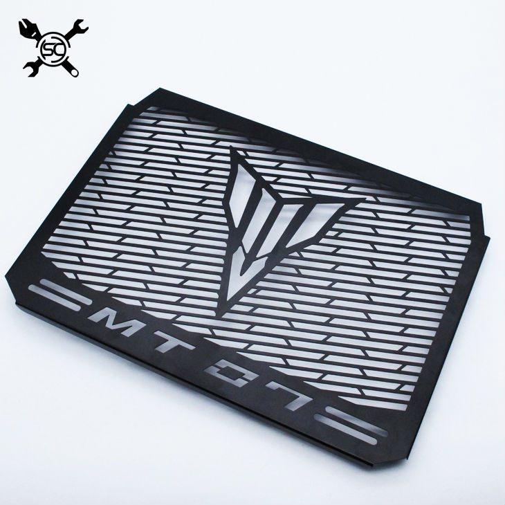 Stainless Steel Motorcycle Matte Black Radiator Guard Radiator Cover Fits For Yamaha Mt07 Tracer Mt-07 FZ07 FZ-07 2014-2016 2017 new black motorcycle radiator grille guard cover protector for yamaha mt07 mt 07 mt 07 2014 2015 2016 free shipping