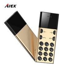 Новый оригинальный aeku/AIEK A5 карты телефон для детей студентов low radiation Металл Мини Портативный телефон Bluetooth Multi Язык