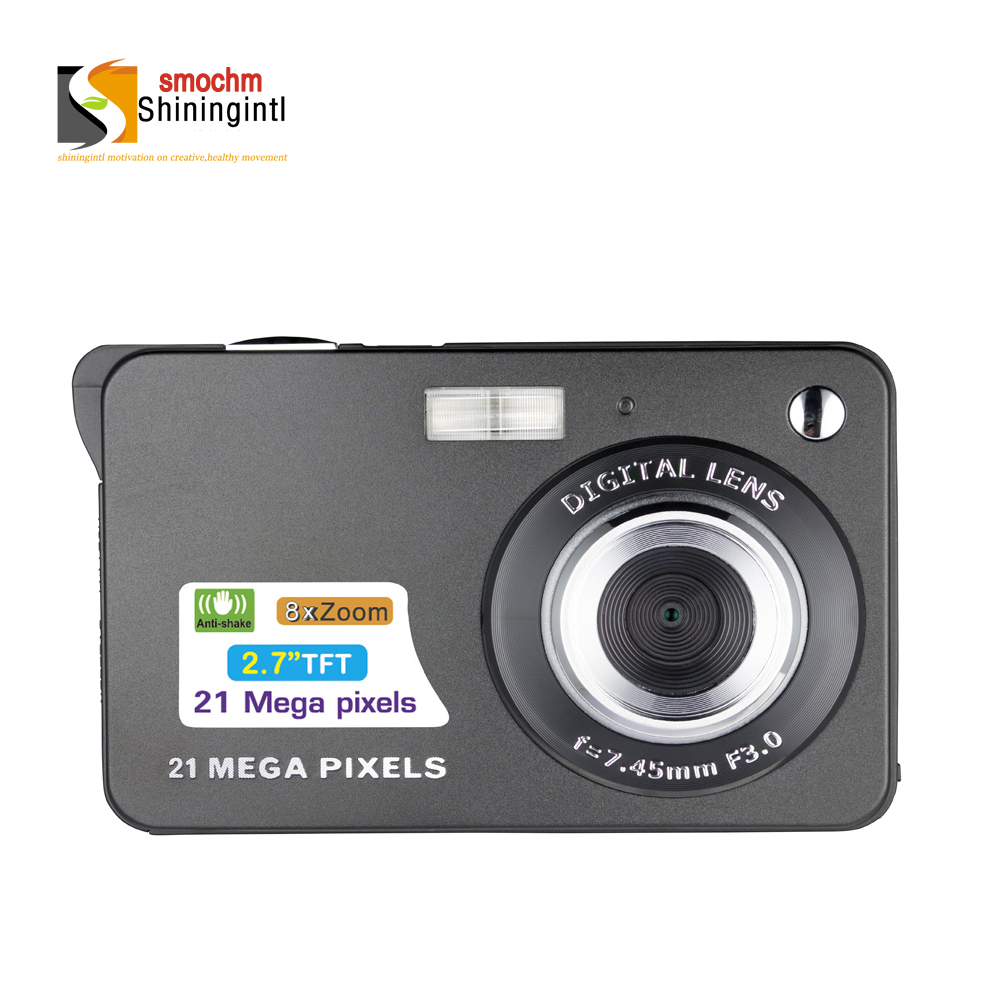 Smochm 21M Pixels Gift Colorful Compact HD 8x Focus Zooming Photo Video Record IGBT  Digital Video Camera with JPEG Avi SD card