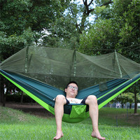 Portable Mosquito Net Hammock Flea Insects Mosquito Housefly Protective Hanging Bed Leisure Outdoor Garden Camping Hammocks