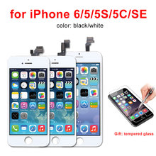 Bluehfixr AAA Quality LCD For iPhone 5S Screen Black/White For iPhone 5S Display Touch Screen Digitizer Assembly Free Shipping все цены