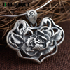 BALMORA Authentic 990 Pure Silver Vintage Flower Pendants Without A Chain For Women Lover Accessories Retro