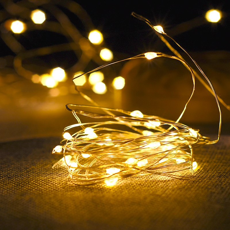 1-10M Copper Wire LED String Fairy Lights Night Light Holiday Lighting For Garland Christmas Tree Wedding Party Decoration