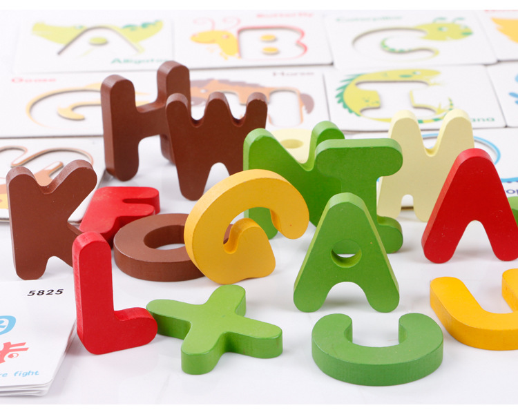 Alphabet Learning Toys : Early learning to recognize the letter animal understanding card
