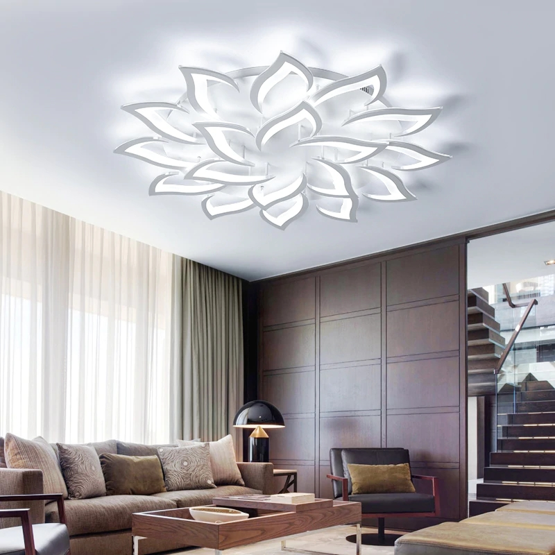US $165.0 |IRALAN led ceiling chandelier lustre modern Gorgeou lotus for  living/dining room kitchen bedroom lamp art deco lighting fixtures-in ...