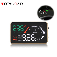 купить GEYIREN X6 Car HUD  OBD II Head Up Display Overspeed Warning System Projector Windshield Auto Electronic Voltage Alarm дешево