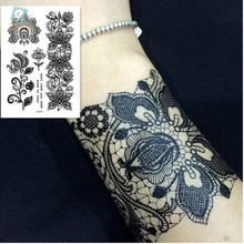 LS614/Fashion&beautiful high quality temporary flower tattoo bracelet design white color henna for hands