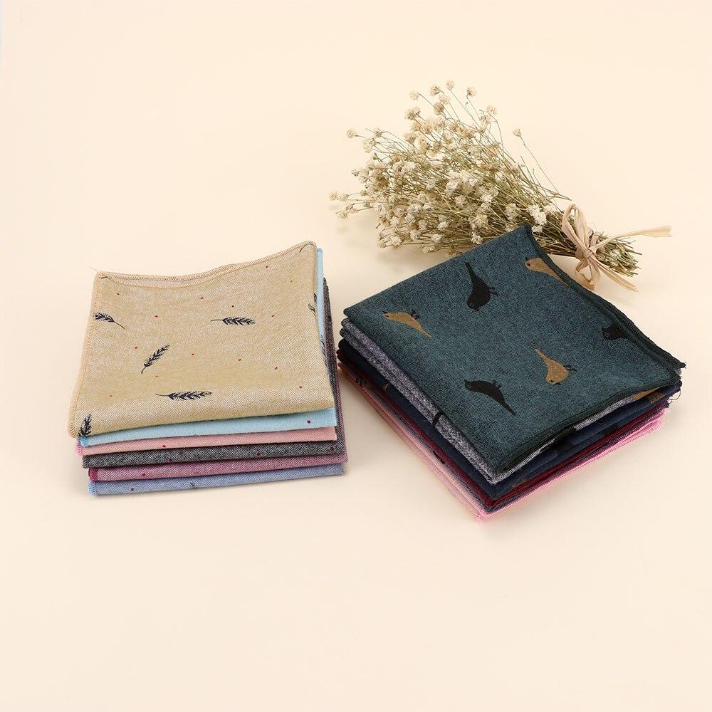 Fashion Men's Cotton Pocket Jacquard Cloth  Western Style Floral Handkerchief For Suit Pocket Wedding Square Paisley Hanky