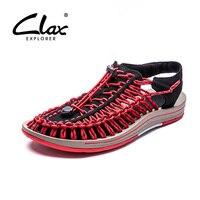 Clax Men Summer Sandals 2017 Designer Casual Shoes Breathable Handmade Outdoor Walking Footwear Soft Lightweight