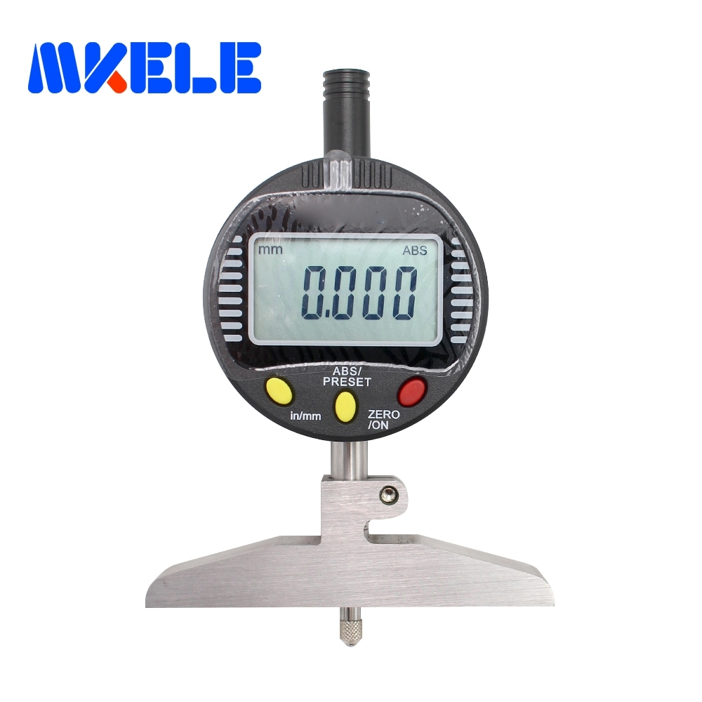 0-100mm  0.001 Mm Digital Indicator Depth Gauge Mesure Instrument Dial