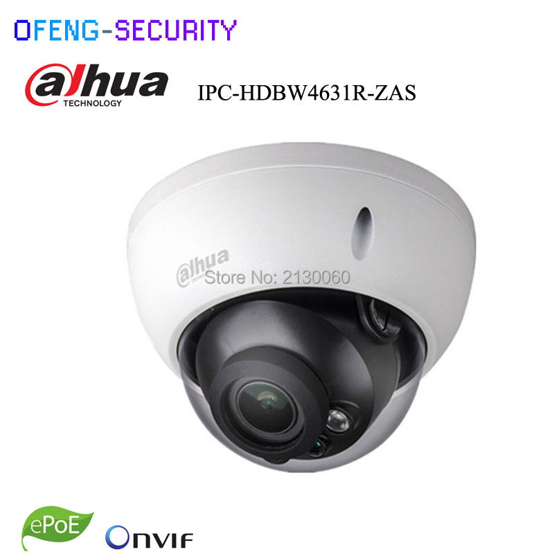 Dahua 6MP IPC-HDBW4631R-ZAS 2.7~13.5mm varifocal motorized lens IP67 IK10 IR30M built-in SD card slot audio interface  ip camera