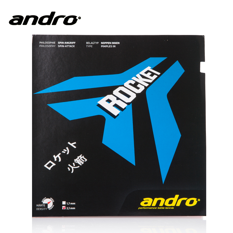 Andro ROCKET Pimples In Table Tennis Rubber Pips-In Ping Pong Sponge Tenis De Mesa накладка andro hexer hd