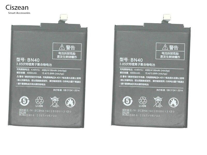 Ciszean 40-Replacement-Battery Batteria Xiaomi Redmi 4000mah For Redrice-Hongmi 4-Pro