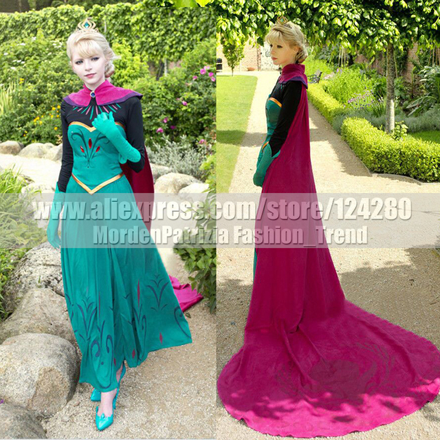 New Adult Women Princess Elsa Cosplay Costume Snow Queen Elsa Outfit Coronation Dress Cosplay Girls Halloween  sc 1 st  AliExpress.com & New Adult Women Princess Elsa Cosplay Costume Snow Queen Elsa Outfit ...