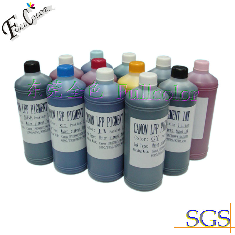 ФОТО 2014 Factory Supply  Water based Ink  pigment ink for Canon IPF6000s printer 8 color ink catridge  PFI101