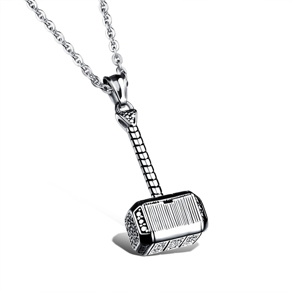 316l stainless steel men necklace thor hammer fashion pendant 316l stainless steel men necklace thor hammer fashion pendant necklaces cool men jewelry 2 colors white mozeypictures Gallery