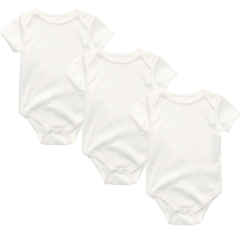 3PCS/LOT Newborn Girl Boy Baby Clothes High Quality Cute 100%Cotton Short Sleeve Baby Rompers Roupas de bebe Infantil Costumes Kids Rompers