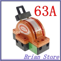 Heavy Duty 2Poles Double Throw DPDT 63A Safety Electronic Circuit Knife Blade Disconnect Switches