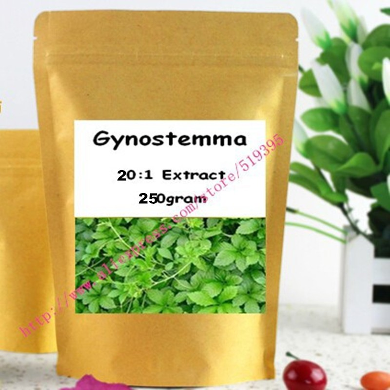 250gram (8.8oz) Gynostemma Jiaogulan Extract Powder - Potent 20:1 Extract Powder acanthopanax root extract powder