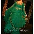Pakistani Dubai Kaftan vestido de noche de lentejuelas de manga larga de lujo Farasha jalabiya Abaya islámico verde vestidos largos de noche increíble diseño