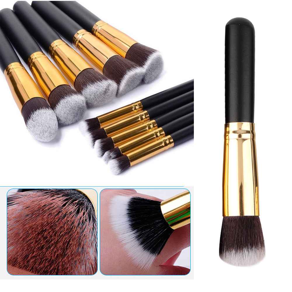 VANDER 10pcs Professional Soft Makeup Brushes Set Cosmetics Eye Eyebrow Shadow Tools Gift Kits Kryolan Pincel De Maquiagem Black цена 2017