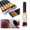 VANDER 10pcs Professional Soft Makeup Brushes Set Cosmetics Eye Eyebrow Shadow Tools Gift Kits Kryolan Pincel De Maquiagem Black
