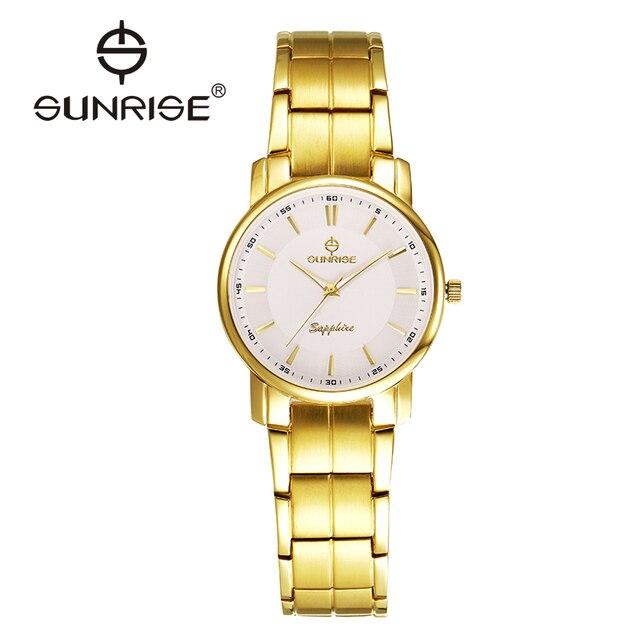 2016 Amantes de la Marca de Lujo Reloj de Oro Hombres Mujeres Cuarzo Impermeable S-shock Reloj de Zafiro Reloj de Oro Informal hub DM747/L747 ofertas