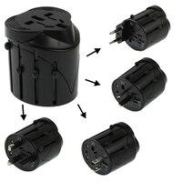 All In 1 EU AU UK US Plug Travel Universal Adaptor Size 60 X 58 X